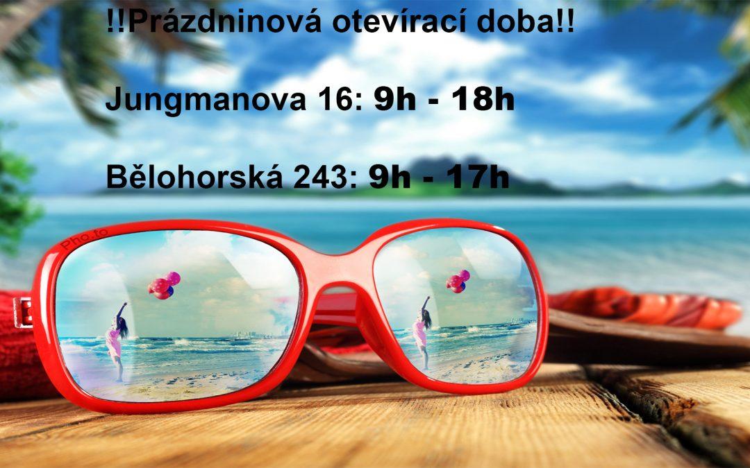 Prázdninová otevírací doba